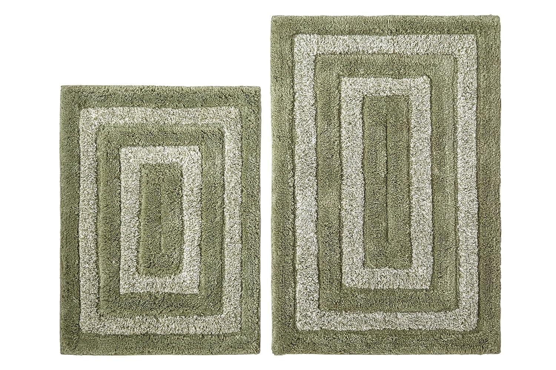 Amazon.com: Cotton Craft - 2 Piece Bath Rug Set - Tweed Race Track ...