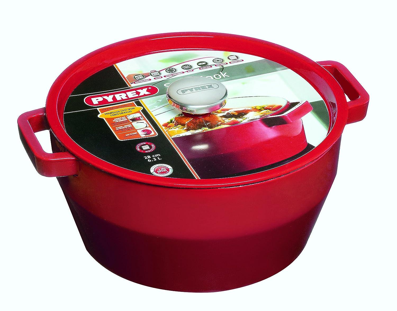 Pyrex Slow Cook - Cacerola De Hierro Fundido Redonda, 28 Cm, 6,3 L, Todos Los Fuegos: Amazon.es: Hogar