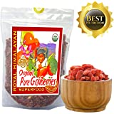 Top Nutrition - 2Lb / 32oz Royal Himalayan Raw Goji Berries - Certified Organic - Smoothies, Snacks, Salads, Trail Mixes