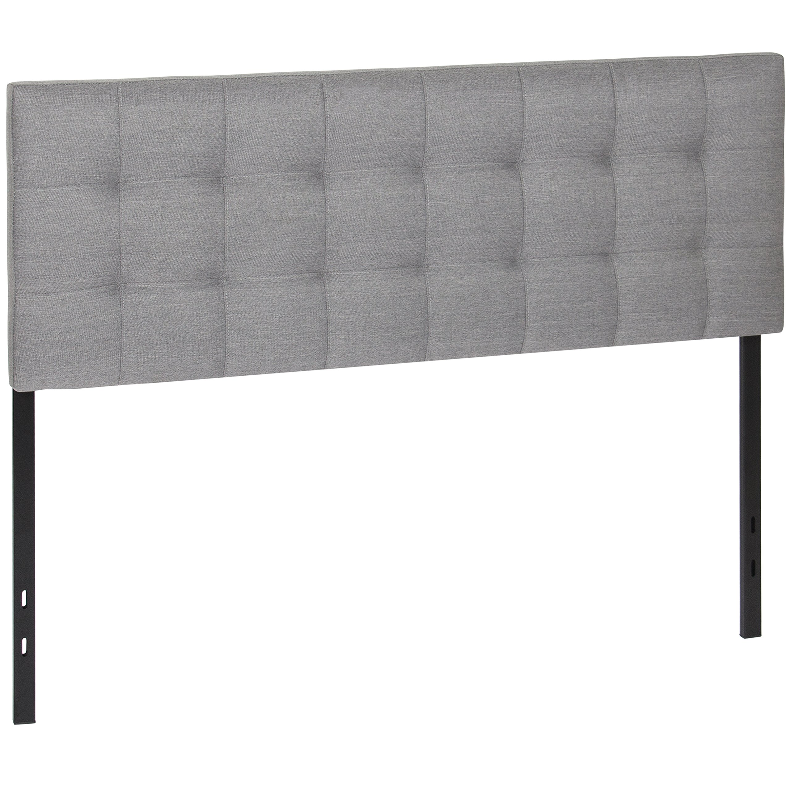 Best Choice Products Upholstered Tufted Fabric Queen Headboard - Gray