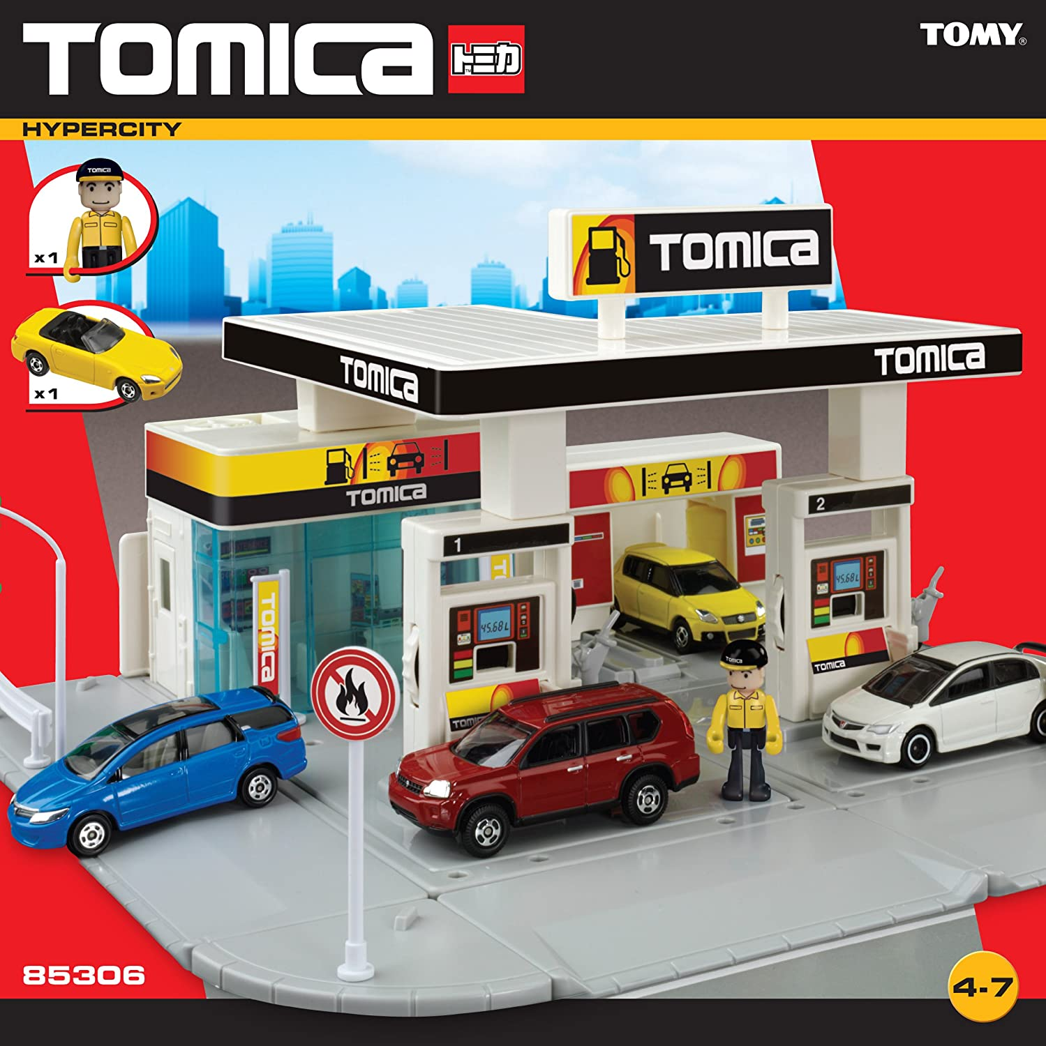 Amazon.com: Tomy Tomica estación de gasolina: Toys & Games