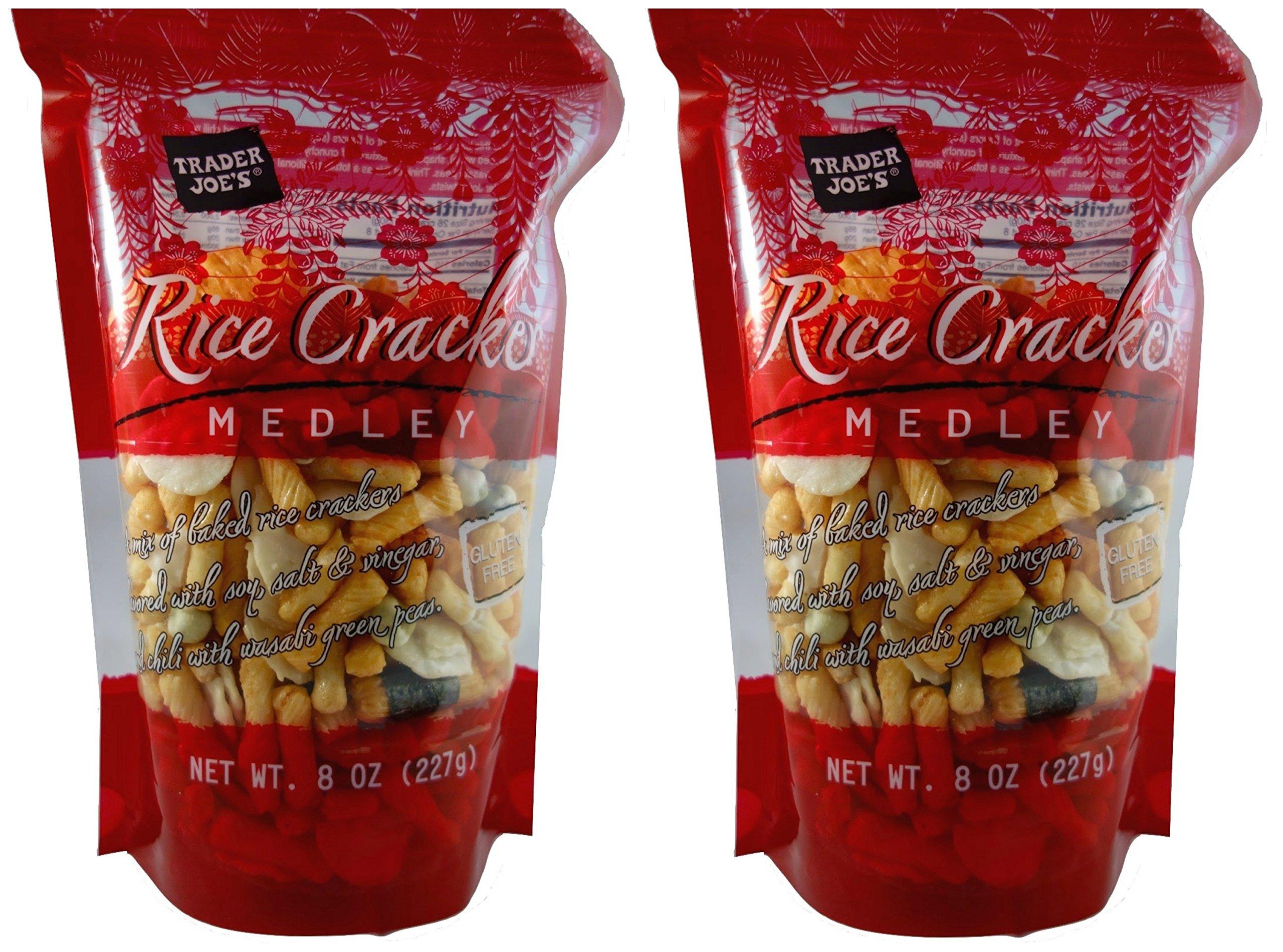 Trader Joe's Gluten Free Rice Cracker Snack Mix Medley, 8 oz Bag (Pack of 2)