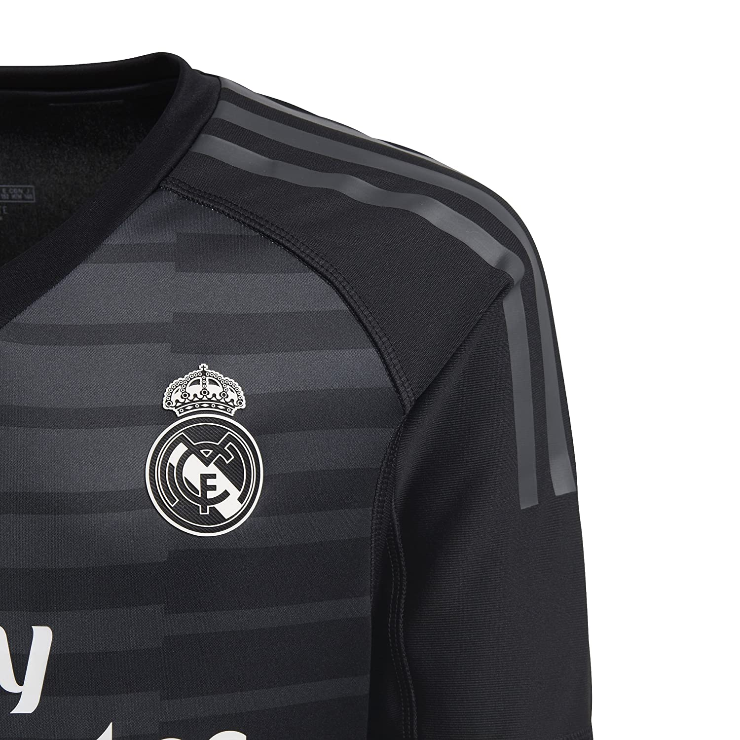 0f15596934b Amazon.com   adidas 2018-2019 Real Madrid Home Goalkeeper Football Soccer  T-Shirt Jersey (Kids)   Sports   Outdoors