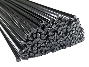 Alambre de soldadura de plástico ABS 6mm Triangulares Negro 25 barra
