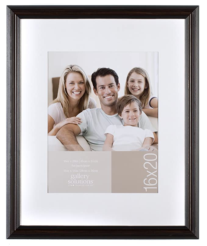 Amazon.com: GALLERY SOLUTIONS 16x20 Mahogany Wall Frame with White ...