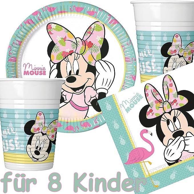 37 Juego de set de fiesta * Minnie Mouse - Tropical * con ...
