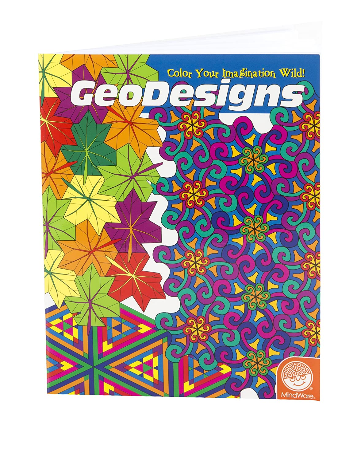 amazoncom mind ware geodesigns coloring book toys games