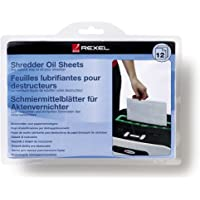 Rexel Shredder Oil Sheets, Pack of 12, A5 Size, Shredder Maintenance, 2101948