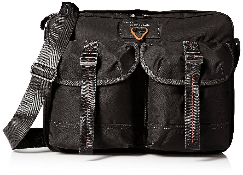 (ディーゼル) DIESELメンズ ナイロン 斜めがけバッグ KROSS-D-OVER F-CROSS MESSENGER cross bodybag B01N25EQISブラック UNI(FREE サイズ)