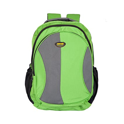 3e518c25f4cc Newera Polyester Waterproof Green School Bag (40Ltrs )  school bags for boys