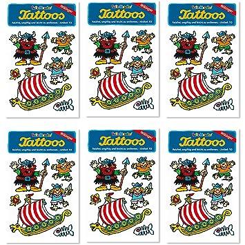 Juego de 6 tattoo-set * * Vikingo de Lutz Mauder//Niños ...