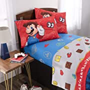 Nintendo Super Mario Kids Bedding Soft Microfiber Sheet Set, Full, Size 4 Piece