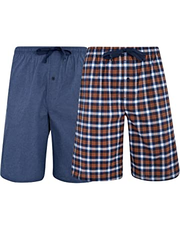 51cadb188e Hanes Men's & Big Men's Woven Stretch Pajama Shorts – 2 Pack