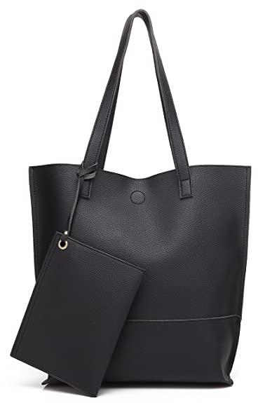 5d0bee2d6 Amazon.com: Scarleton Trendy Reversible Tote Bag H20180103 - Black/Grey:  Shoes
