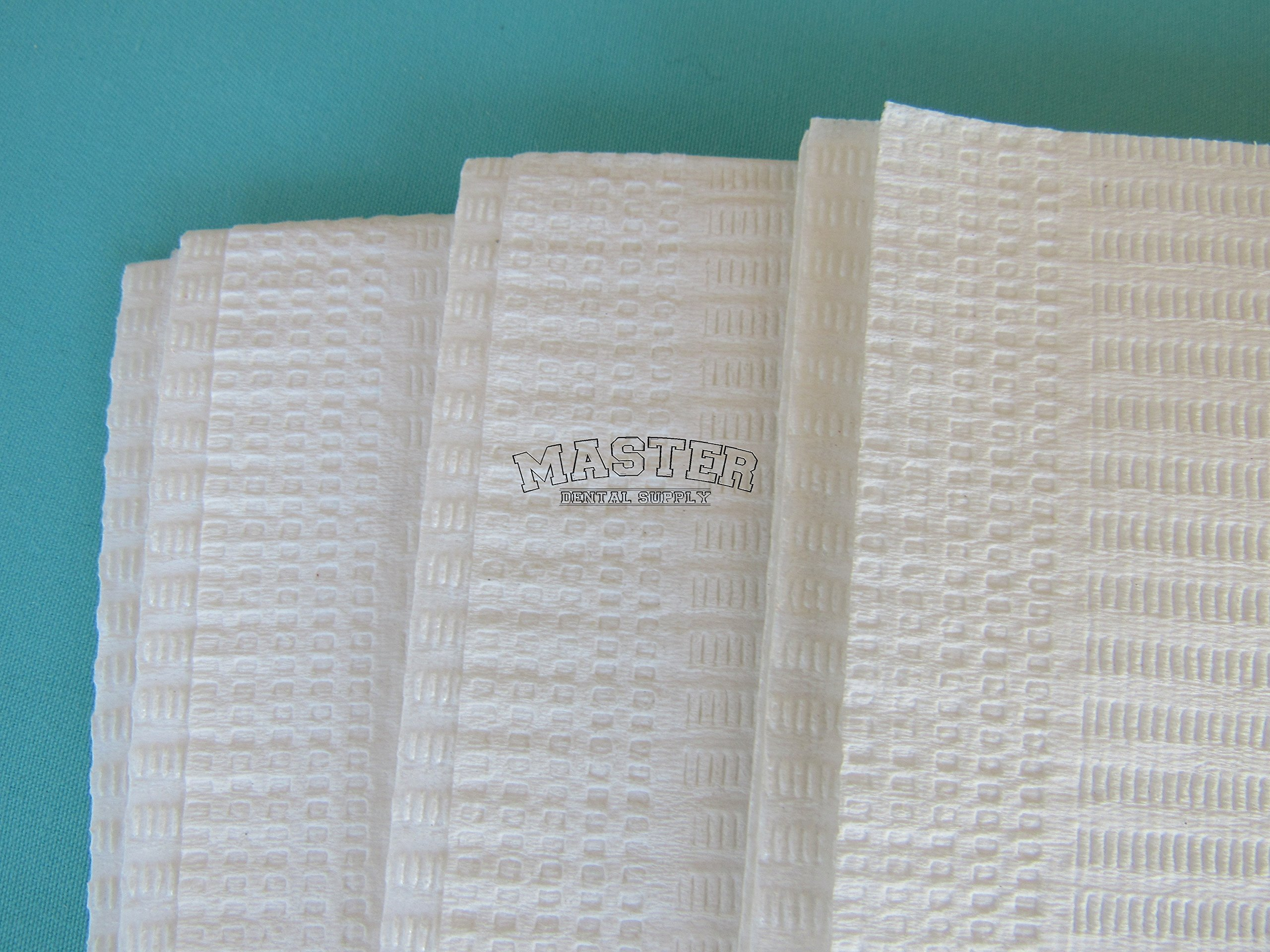 Disposable Patient Bibs Dental Tissue TattooTowels 100 Pcs WHITE Color 2 + 1 Ply Poly Waterproof 13'' X 18''