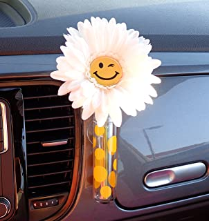 Amazoncom Magnetic VW Beetle Decal Black Daisy Automotive - Magnetic car decals flowers
