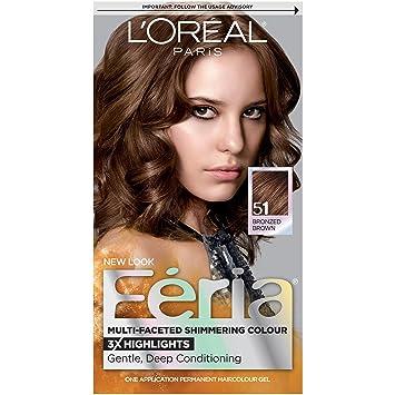 Amazon.com : L\'Oréal Paris Feria Permanent Hair Color, 51 ...