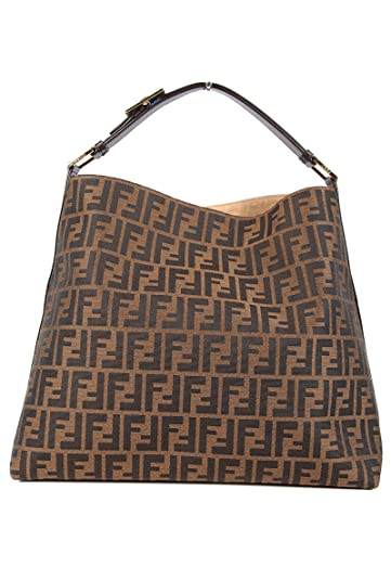 e3b7ee6242 Amazon.com: Fendi women's shoulder bag original hobo brown: Shoes