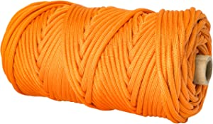 TOUGH-GRID 750lb Neon (Safety) Orange Paracord/Parachute Cord - Genuine Mil Spec Type IV 750lb Paracord Used by US Military (MIl-C-5040-H) - 100% Nylon - 200Ft. - Neon (Safety) Orange