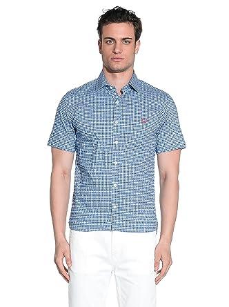 Fred Perry Camisa Hombre Azul/Blanco M: Amazon.es: Ropa y accesorios