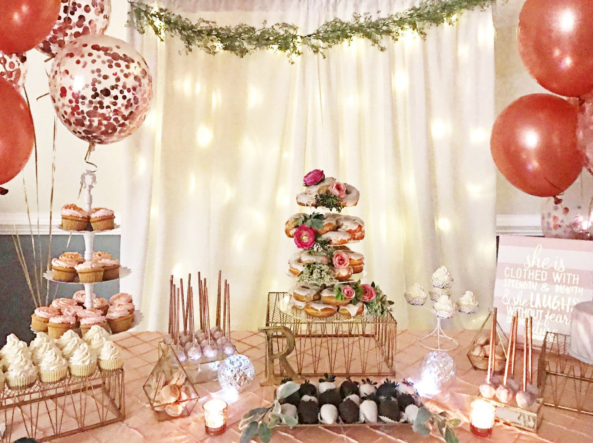 BRIGHT TRICKS REAL Rose Gold 18 inch Confetti Balloon Set ?16 Pcs ...