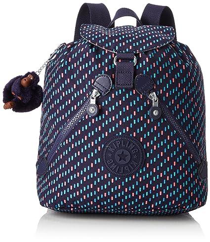 f7e222696fe Kipling Bustling School Backpack, 32 cm, 13 liters, Multicolour (Blue Dash  C): Amazon.co.uk: Luggage