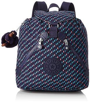Kipling Bustling Mochila escolar, 32 cm, 13 litros, Varios colores (Blue Dash C): Amazon.es: Equipaje