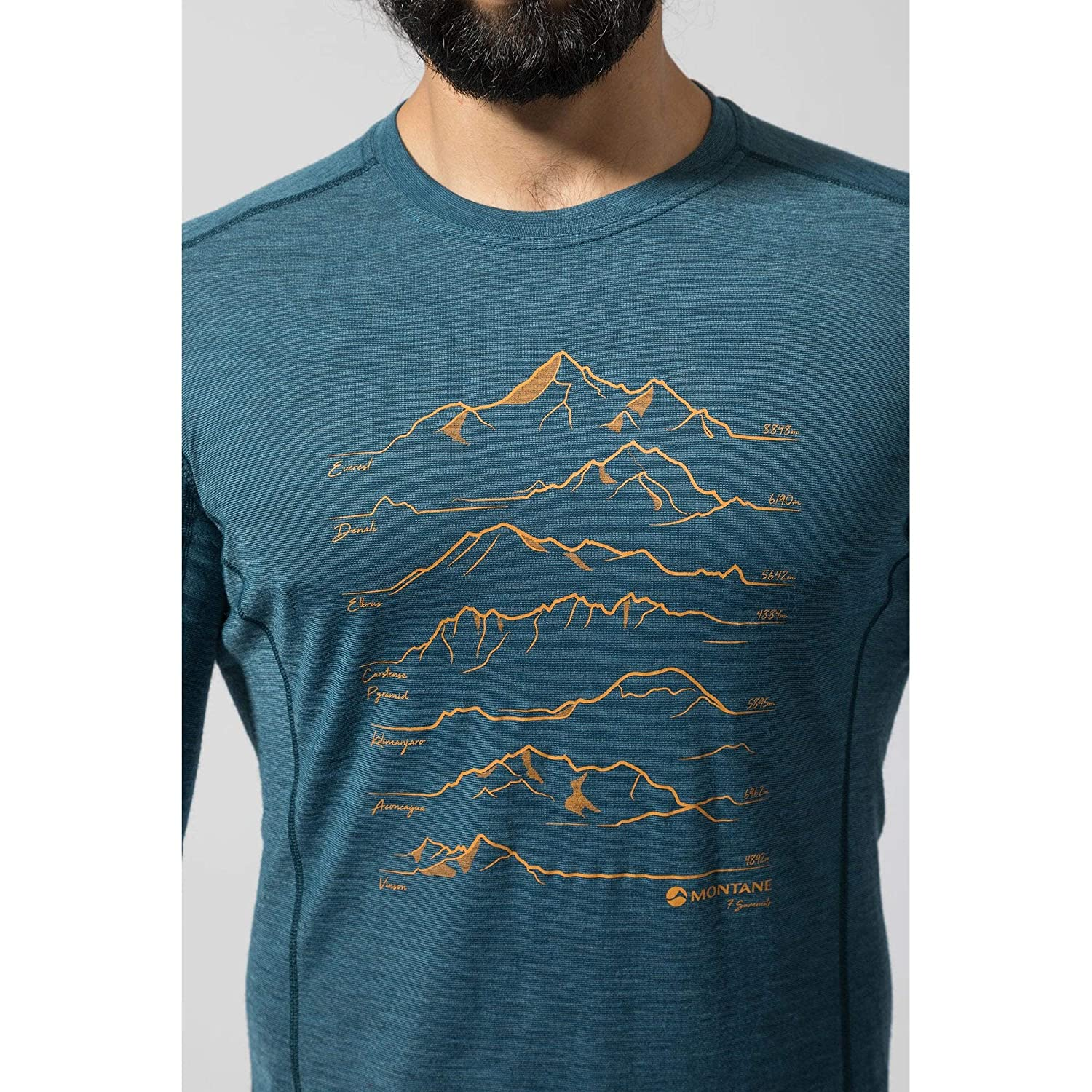 Montane Primino 140G 7 Summits Long Sleeve T-Shirt