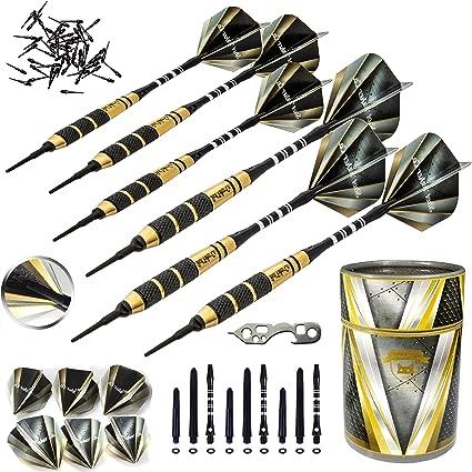 Barrel+Flight+Shaft Professional Dart Accessories Set Details about  /12PCS Soft Tip Darts Set