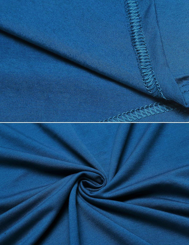 Cotton Nightwear Comfy Big/&Tall V Neck Short Sleeve Soft Loose Pajama Sleep Shirt Ekouaer Mens Nightshirt