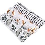 aden + anais 3 Piece Classic Swaddle White Label Baby Blanket, Serengeti