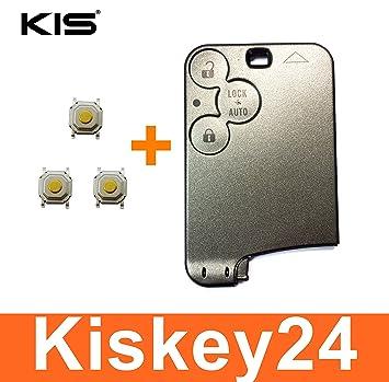 Kis® 3Tasten para Llave Tarjeta Carcasa para Llave de ...