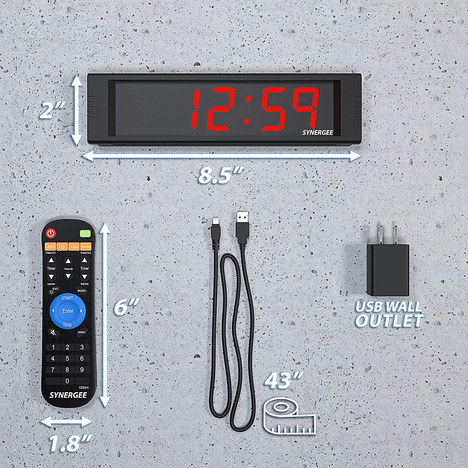 Synergee Premium LED CrossFit Timer