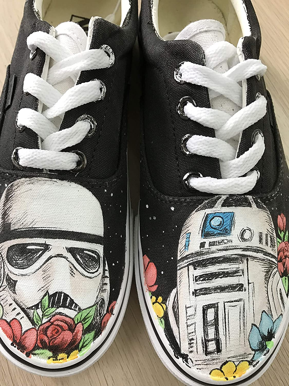 b3459bdb5c2 Star wars custom vans authentic custom shoes vans jpg 1125x1500 Star wars custom  painted vans