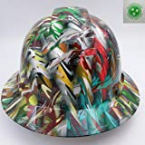 Wet Works Imaging Customized Pyramex Full Brim ACID TRIP 3D CAMO Hat With Ratcheting Suspension