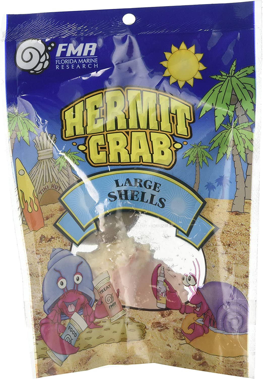 Florida Marine Research SFM33331 2-Pack Hermit Crab Shell, Large