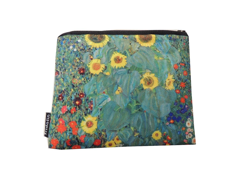 Fridolin Mini Porte-Monnaie avec Fermeture /Éclair Klimt Le Jardin aux Tournesols Multicolore 12 cm