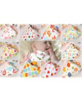 Bebedou 10 PACK GIRLS Dribble Bibs Bandana Pure Cotton Stylish Bandana / Drool Bib for Babies and Toddler, fun colourful design, baby shower gift, burpy towel •Lovely designs zoo animals • very good quality •nice and funky (Pink Girls)