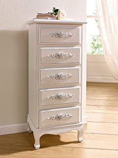 antique white shabby chic wood dresser w rosebuds product sku hd221569
