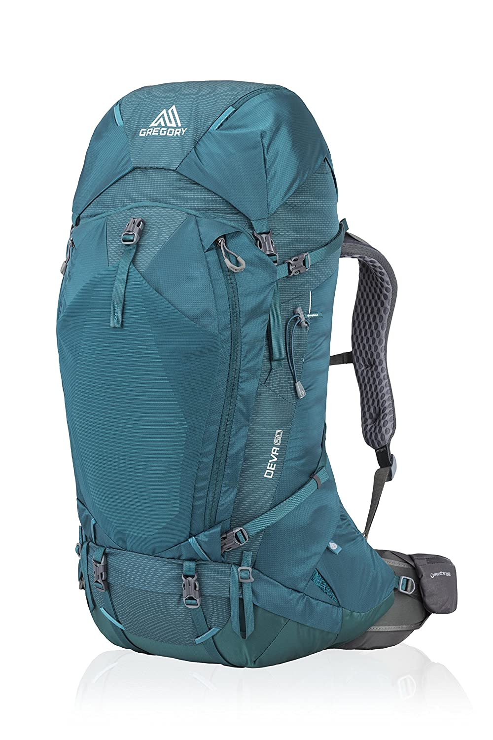 Gregory Mountain Products Women's Deva 60 Liter Backpack, Antigua Green, Extra Small B073P3RZPQ Small|Antigua Green