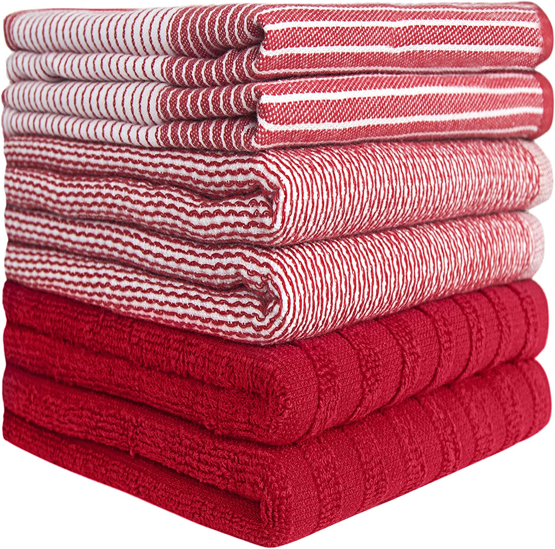 Details about  /Broadway Stripe Kitchen Towel Set of 6