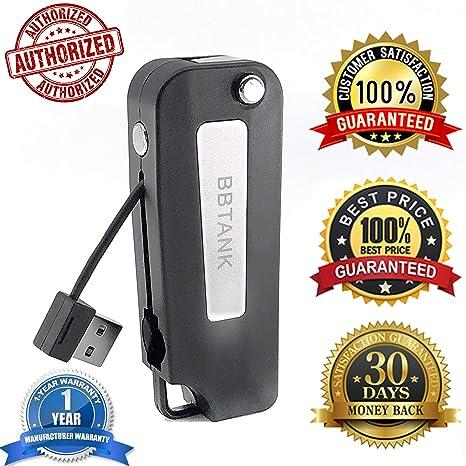 USB Charger BB TANK Top Fob Battery Flip Key Fob_510_T_H_R_E_A_D w/Velvet  Satchel