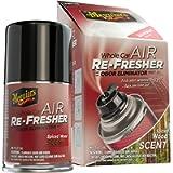 Meguiar's G19702 Whole Car Air Re-Fresher Odor Eliminator – Spiced Wood Scent, 2.5 oz