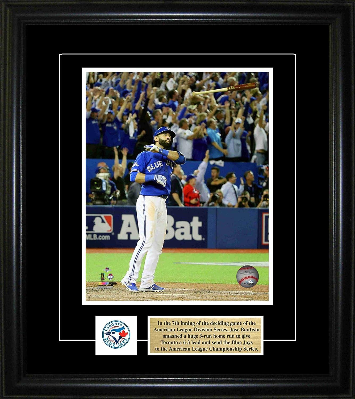 FanPlastic Jose Bautista 19 Toronto Blue Jays Wall Clock M L B Canada Baseball Legends Edition The BAT FLIP !!
