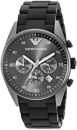 e8c9e76c15359 Amazon.com  Emporio Armani Men s AR5889 Sport Black Watch  Emporio ...