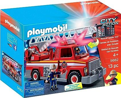 Playmobil City Action Rescue Ladder Unit vehículo de Juguete - Vehículos de Juguete, Vehicle Set, Fire Engine, 4 año(s), 10 año(s), Niño: Amazon.es: Juguetes y juegos
