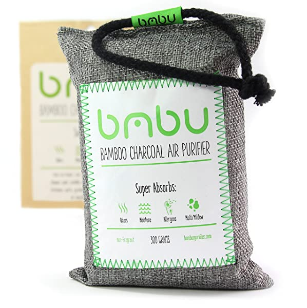 300g Bamboo Charcoal Car Deodorizer and Air Freshener Bag - Remove Odor, Control Moisture & Purifier your Truck, Closet, Bathroom, Kitchen, Litter Box - Non-Fragrant Alternative to Sprays