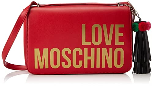 Borsa Grain Pu Nero, Womens Shoulder Bag, Black, 6x19x30 cm (B x H T) Love Moschino
