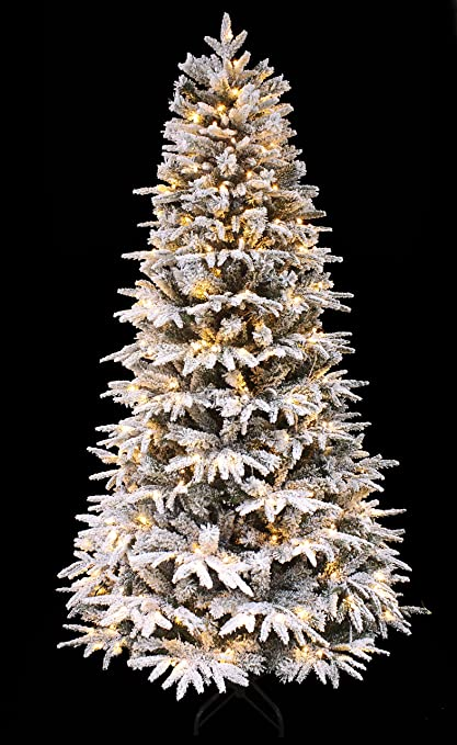 holiday stuff snowy forest spruce the pre lit pe feel real flocked narrow slim artificial - Skinny Artificial Christmas Trees