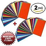 12x12 and 6x12 Adhesive Vinyl Sheets 2 Packs (6x12, Color 2pk)